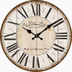 Dřevěné nástěnné hodiny Les Deux, pr. 34 cm