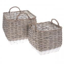Sada proutěných košíků - obalů na květináč Kasterlee, 2 ks
