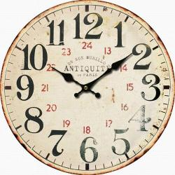 Dřevěné nástěnné hodiny Antiquité, pr. 34 cm