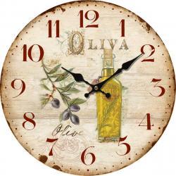 Dřevěné nástěnné hodiny La oliva , pr. 34 cm