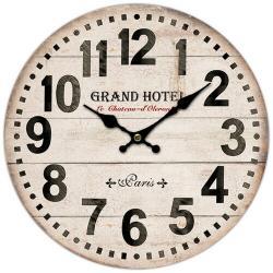 Dřevěné nástěnné hodiny Grand hotel Paris, pr. 34 cm