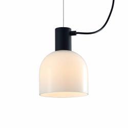 Lucande Lucande Serina závěsné světlo, 3 zdroje, sklo bílá