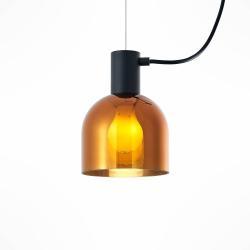 Lucande Lucande Serina závěsné světlo, 3 zdroje, sklo měď