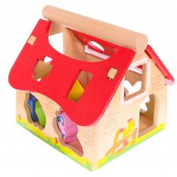 ECOTOYS Dřevěný domek farma se zvířátky Eco Toys