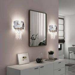 Lucande Lucande Miraia křišťál nástěnné světlo zrcadlené