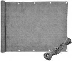 Bluegarden Balkonová zástěna šedá 1x5 m PE