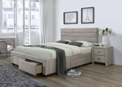 Halmar Čalouněná postel Kayla 160x200 dvoulůžko béžové