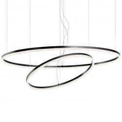 Redo group Redo Orbit direct, závěsné kruhové svítidlo, 42+66W LED 3000K stmívatelné DALI, černá, prům. 60+100cm