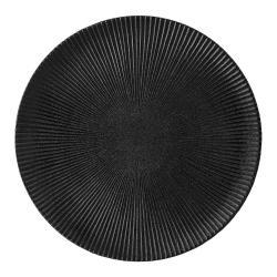 Černý talíř z kameniny Bloomingville Neri,ø29cm