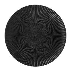 Černý kameninový talíř Bloomingville Neri,ø18 cm