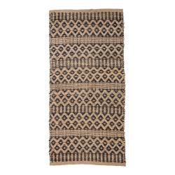 Hnědý jutový koberec Bloomingville Sicily, 70 x 140 cm