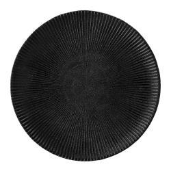 Černý talíř z kameniny Bloomingville Neri,ø23cm