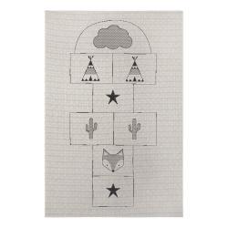 Šedý dětský koberec Ragami Games, 120 x 170 cm