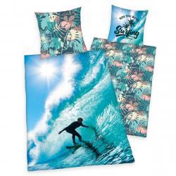 Herding Bavlněné povlečení Surfing, 140 x 200 cm, 70 x 90 cm