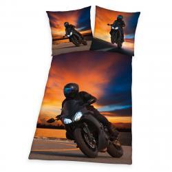 Herding Bavlněné povlečení Motorcycle, 140 x 200 cm, 70 x 90 cm