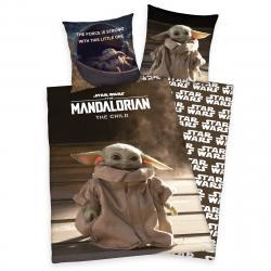 Herding Bavlněné povlečení Star Wars Mandalorian The Child, 140 x 200 cm, 70 x 90 cm