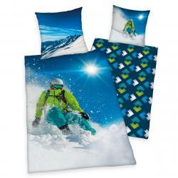 Herding Bavlněné povlečení Skiing, 140 x 200 cm, 70 x 90 cm