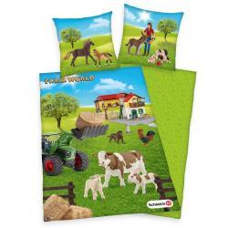 Herding dětské bavlněné povlečení Farm World, 140 x 200 cm, 70 x 90 cm