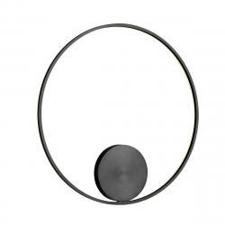Redo 01-1947-DALI Orbit indirect, nástěnné/stropní kruhové svítidlo, 55W LED 3000K stmívatelné DALI, černá, prům. 80cm
