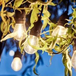 BULB LIGHTS Venkovní světelný řetěz s 10 žárovkami a zástrčkou