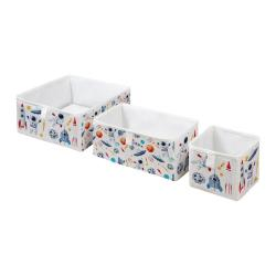 Sada 3 dětských úložných boxů Mr. Little Fox Space