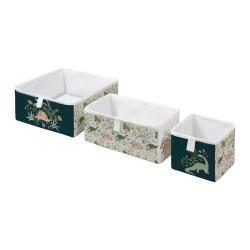 Sada 3 dětských úložných boxů Mr. Little Fox Friendly Dinosaurs