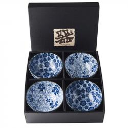 Set misek Blue Plum & Cherry Blossom Design 300 ml 4 ks MIJ
