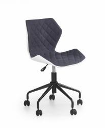 Halmar Kancelářská židle Dorie šedá/bílá