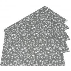 Prostírání Zara šedá, 35  x 48 cm, sada 5 ks