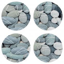 AG Art Podložka pod hrnek Stones, kulatá, pr. 10 cm, sada 4 ks