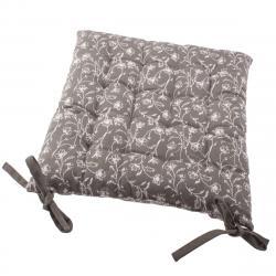 Sedák na židli Zara šedá, 40 x 40 cm