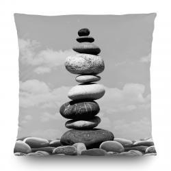 AG Art Polštářek Stones šedá, 45 x 45 cm