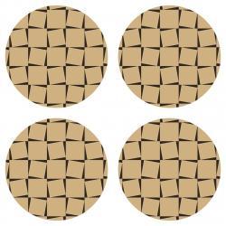 AG Art Podložka pod hrnek Squards, kulatá, pr. 10 cm, sada 4 ks