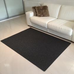 Vopi Kusový koberec Nature antracit, 80 x 150 cm