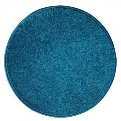 Vopi Kusový koberec Eton lux tyrkysová, průměr 110 cm