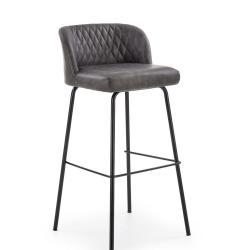 Halmar Barová židle H-92, tmavě šedá