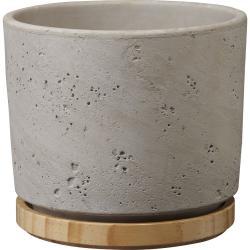 Šedý keramický květináč Big pots, ø 19 cm
