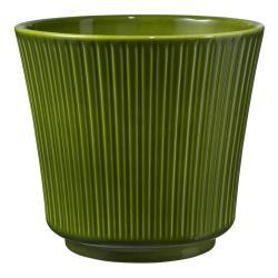 Zelený keramický květináč Big pots Gloss, ø 12 cm