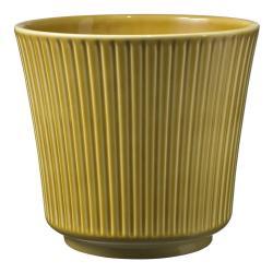 Žlutý keramický květináč Big pots Gloss, ø 16 cm