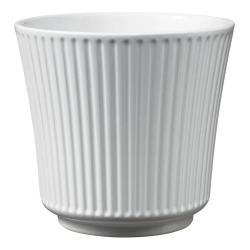 Bílý keramický květináč Big pots Gloss, ø 12 cm