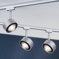 Paulmann Paulmann LED bodovka Aldan URail černá/chrom mat