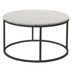 Mramorový konferenční stolek s černou konstrukcí RGE Accent, ⌀85cm