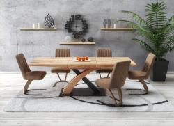 Halmar Jídelní stůl SANDOR 3, dub zlatý/černý