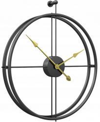 Tutumi 3D nástěnné hodiny Coat 60 cm černé
