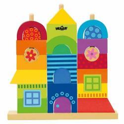 Woody Dřevěná stavebnice Rainbow Můj dům