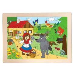 Woody Dřevěné puzzle Červená karkulka