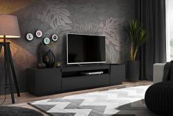 Halmar TV stolek Geston 200 cm černý mat
