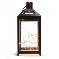 Lucerna do interiéru s LED diodami , 13,5 x 13,5 x 31,8 cm