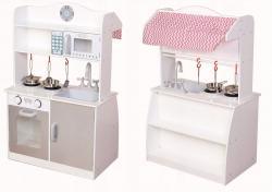 ECOTOYS Dřevěná kuchyňská linka a prodejní pult pro děti Eco Toys