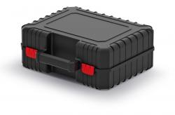 PlasticFuture Kufr na nářadí s upevňovacími páskami HEAD černý 384x335x144